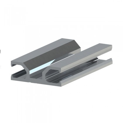 ASO safety edge aluminium profile for 45mm or 65mm clip-on rubber profile