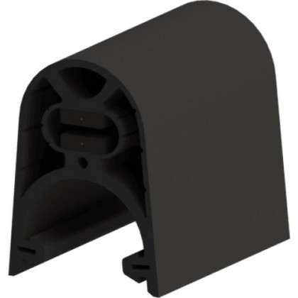 ASO GGE safety edge rubber profile with clip foot - 45mm or 65mm high versions